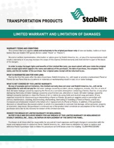 thumbnail of Stabilit Warranty